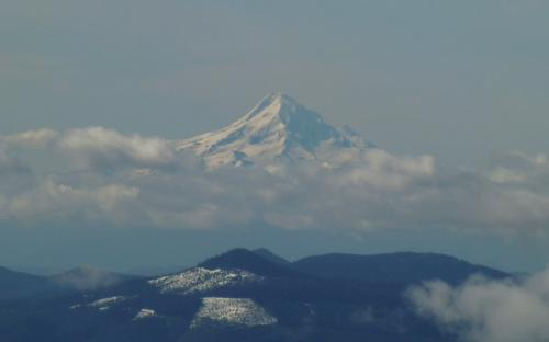 Mount Hood from Mount St. Helens, Washington