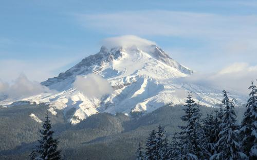 Mt Hood from Trail to Tom Dick and Harry Mountain