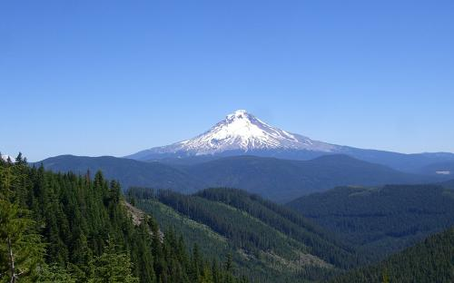 Mount Hood from Upper Clackamas, Oregon