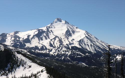 Mount Jefferson from Bear Point, Oregon