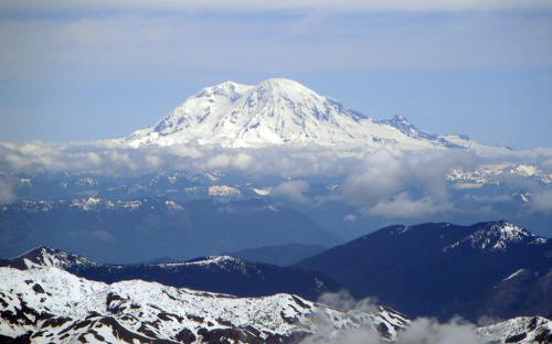 Mount Rainier from Mount St. Helens Summit, Washington
