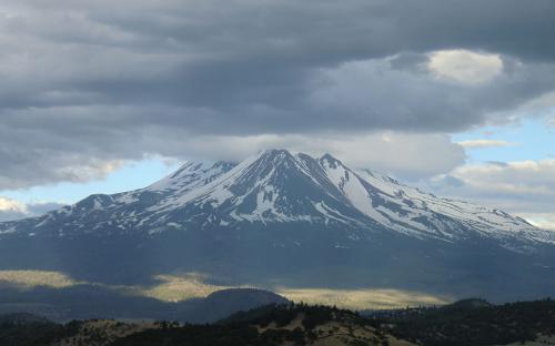 Mount Shasta from I-5, California