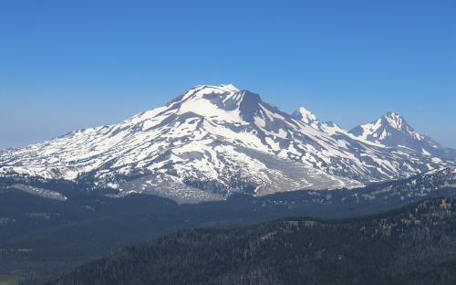 The Three Sisters from Mount Bachelor, Oregon