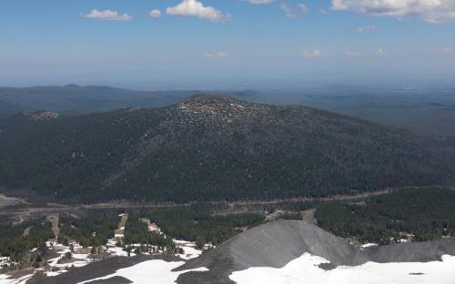 Tumalo Mountain from Mount Bachelor, Oregon