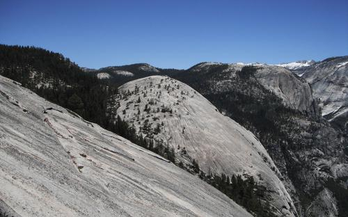 Basket Dome from North Dome - Yosemite, CA