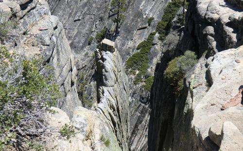 Fissures near Taft Point - Yosemite, CA