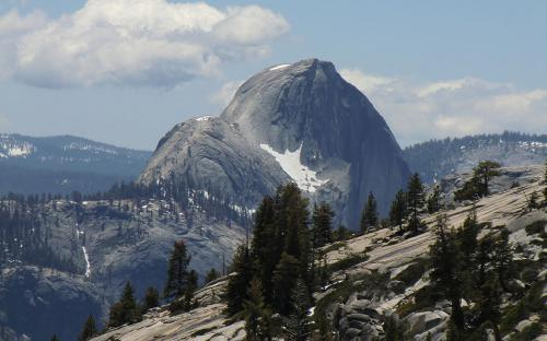 Half dome (back side) from Olmsted Point - Yosemite, CA
