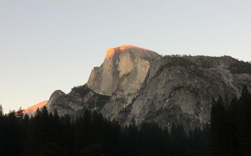 Alpenglow on Half Dome - Yosemite, CA