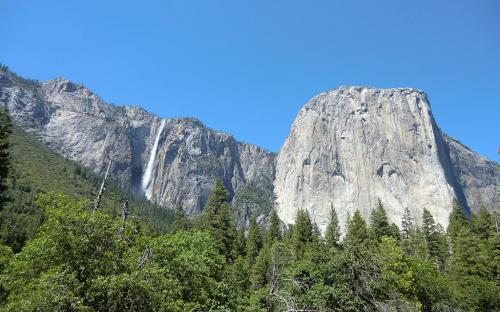 Ribbon Fall and El Capitan - Yosemite, CA
