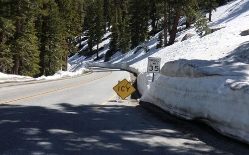 Tioga Pass Road in late June 2011 - Yosemite, CA